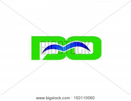 DO company linked letter logo design vector template