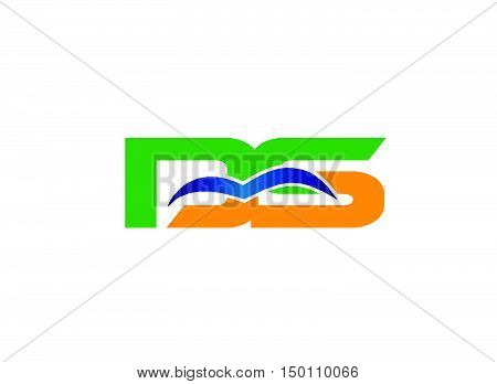 DS company linked letter logo design vector template