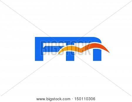 FN initial company logo design vector template