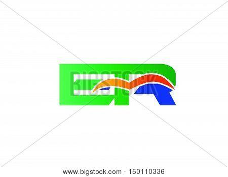 ER Logo. ER Logo design vector template