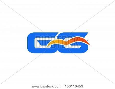 GG letter logo design vector template 1