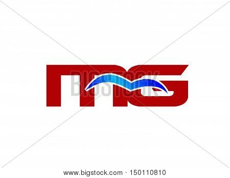 MG letter logo design vector illustration template