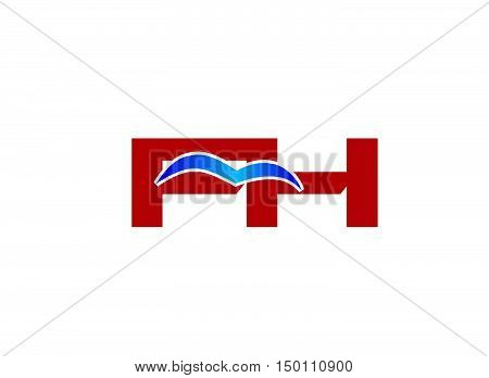 F and H logo vector design vector template