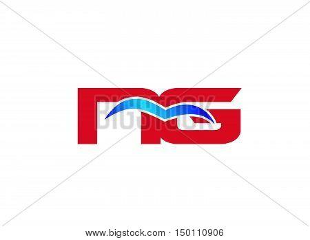 NG letter logo. NG letter logo design vector template