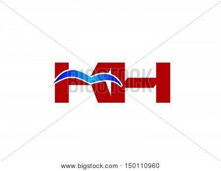 K and H logo vector design vector template