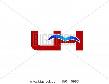 L and H logo vector design vector template