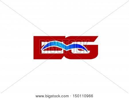 EG letter logo. EG letter logo design vector template