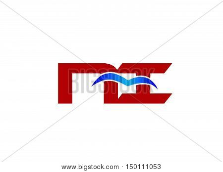 NI company linked letter logo design vector template