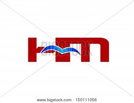 HM Logo. Vector Graphic Branding Letter Element