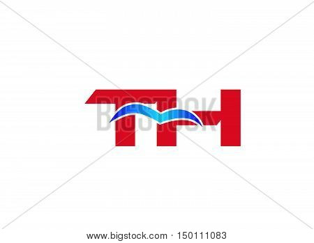 T and H logo vector design vector template