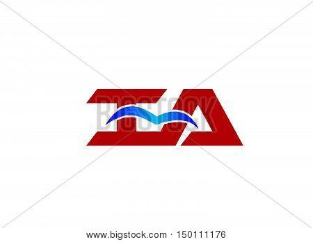 iA company logo design vector template. iA company logo