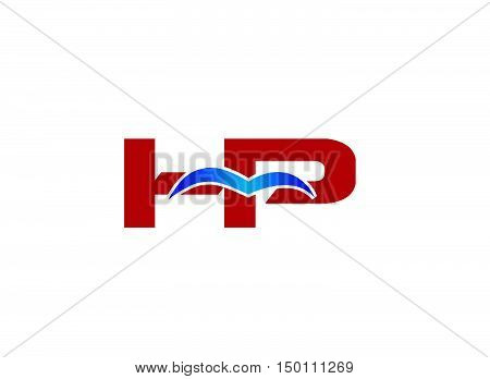 HP Logo. Vector Graphic Branding Letter Element