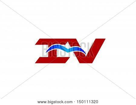 iV company logo. iV company logo vector design