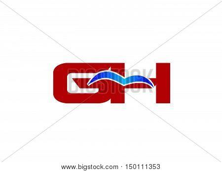 G and H logo vector illustration design