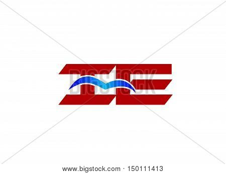 iE company logo. iE company logo vector design