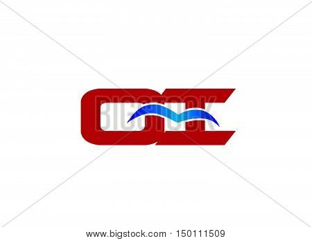 QI company linked letter logo design template