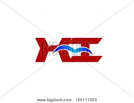 XI company logo. XI company linked letter logo