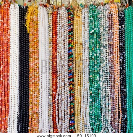Background from beads  in the big market