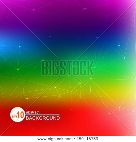 Abstract bright colorful rainbow background with strips.