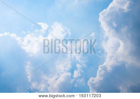 blue Sky clouds in the big sky