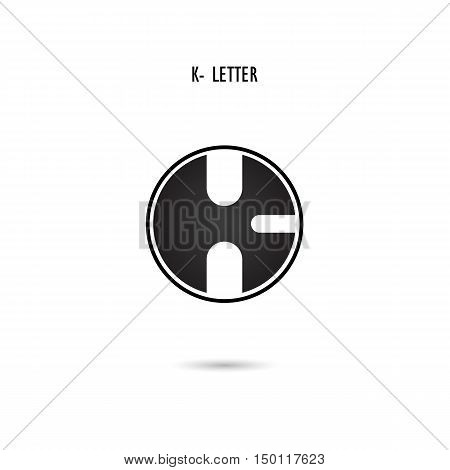 Creative K-letter icon abstract logo design.K-alphabet symbol.Corporate business and industrial logotype symbol.Vector illustration