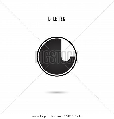 Creative L-letter icon abstract logo design.L-alphabet symbol.Corporate business and industrial logotype symbol.Vector illustration
