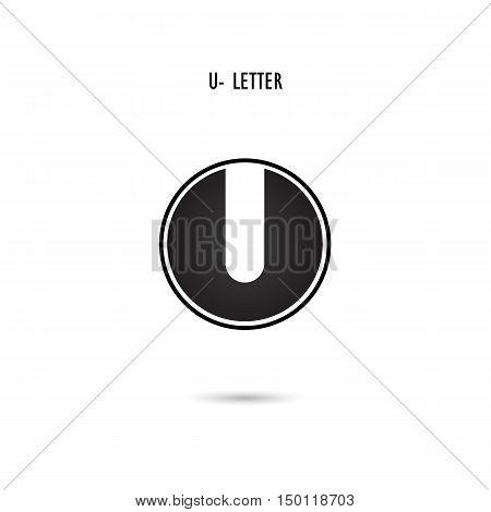 Creative U-letter icon abstract logo design.U-alphabet symbol.Corporate business and industrial logotype symbol.Vector illustration