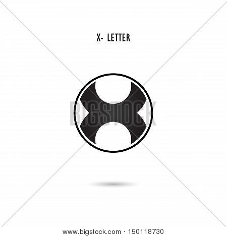 Creative X-letter icon abstract logo design.X-alphabet symbol.Corporate business and industrial logotype symbol.Vector illustration