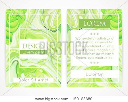 Cover design with marbling. Marble texture. Paint splash. Colorful fluid. It can be used for brochure cover book catalog. Size A4. Vector illustration eps10
