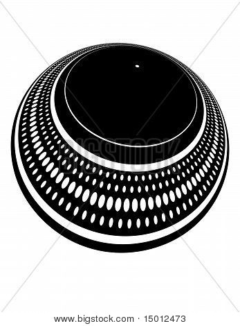 Turntable plate distorted