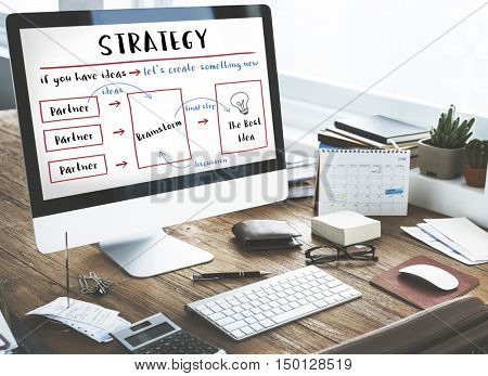 Strategy Business Plan Diagram Concept