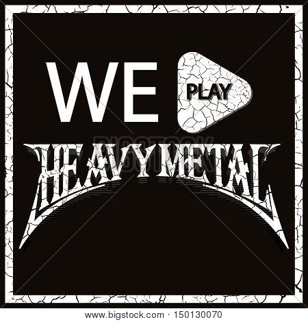 Grunge t-shirt graphic design grunge print stamp Heavy metal vector