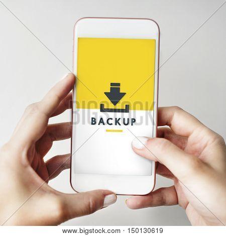 Data Backup Storage SYNC Digital Server Internet Concept