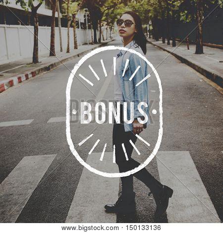 Bonus Special Extra Incentive Payment Reward Concept