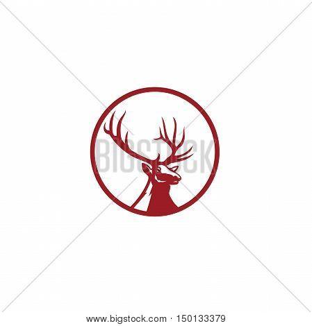 Hunting logo, stag vector, target vector, animal, wildlife