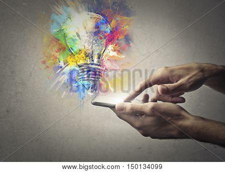 Creating ideas through technology