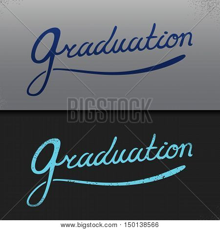 template copy space for text. Graduation Party, Congrats, Celebrate, High School.College Graduation Vector Set.Celebration of finishing school. Minimal flat vector illustration.