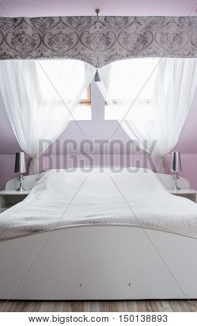 Comfortable White King Size Bed