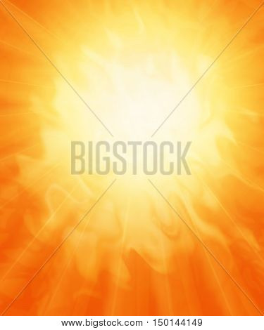 Sun fiery abstract background. Very hot. 3D illustration