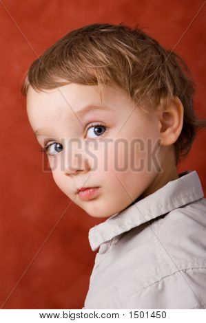 Blond Caucasian Boy