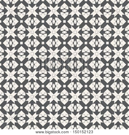 Vector seamless pattern. Abstract textured background. Modern stylish texture with regularly repeating geometric shapes. Graphic design element