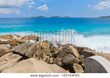Violent Surf Sunlit Sea Foam