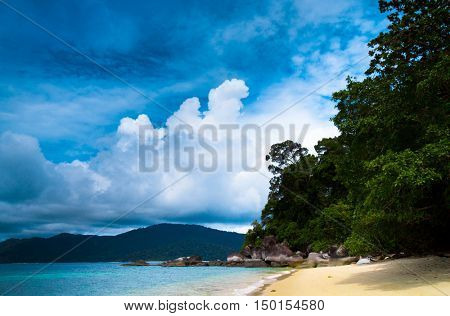 Idyllic Scene On a Beach
