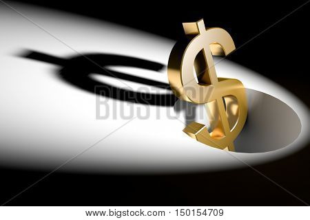 3d illustration currency sign of dollar