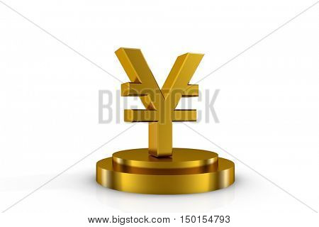 3d illustration currency sign of yuan