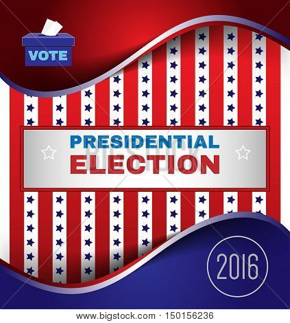 Digital vector usa election with presidential vote, republican vs democrat, make your choice,  flat style