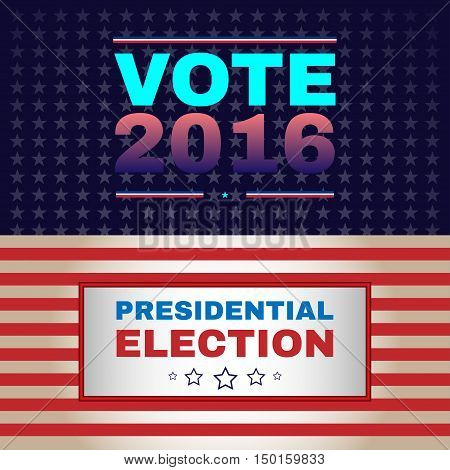 Digital vector usa election with 2016 vote, flat style
