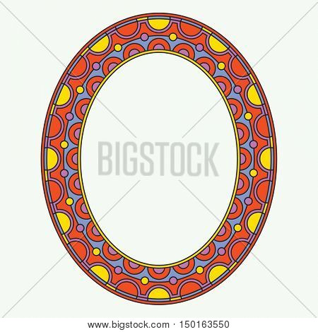 decorative oval frame, vector template