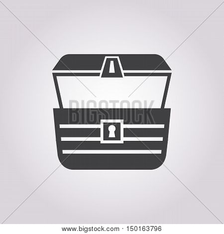 chest icon on white background for web