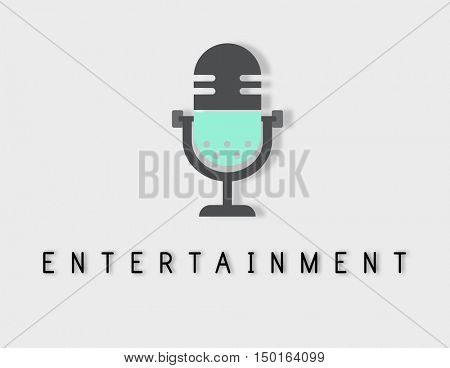 Microphone Audio Podcast Broadcast Media Graphic Concept